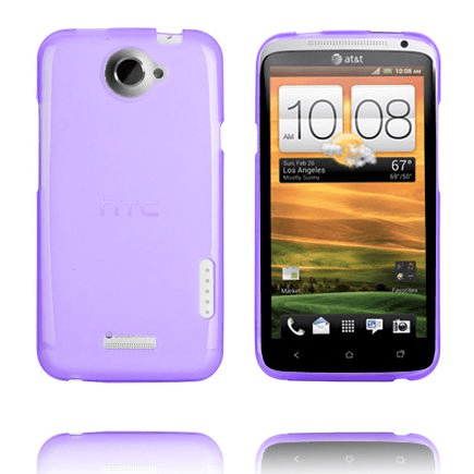 Tpu shell (transparent lila) htc one x skal