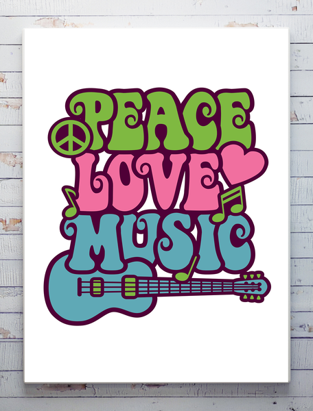 Poster - Peace Love and Music Music Music 30x40cm 179fe1