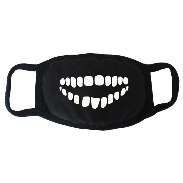 Unisex black breathable warm face masks fashion half face mouth