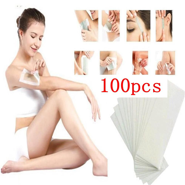 100pcs hair removal paper depilatory non-woven wax remover