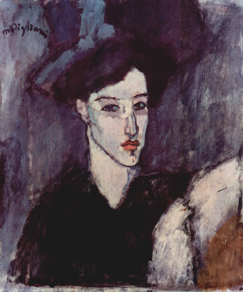 The jewess,Amedeo Modigliani,55.1x46.2cm