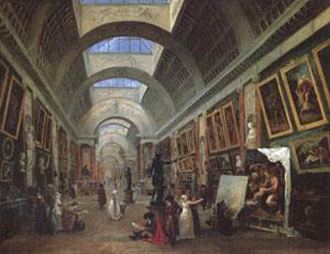 Project for the Disposition of the Grande Galerie,ROBERT Hubert