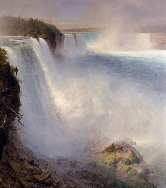 Niagara Falls from the American Side,Fröderic E.Church,60x50cm