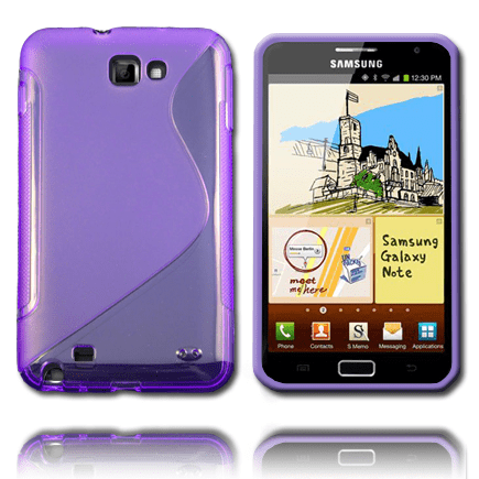 S-line transparent (lila) samsung galaxy note skal