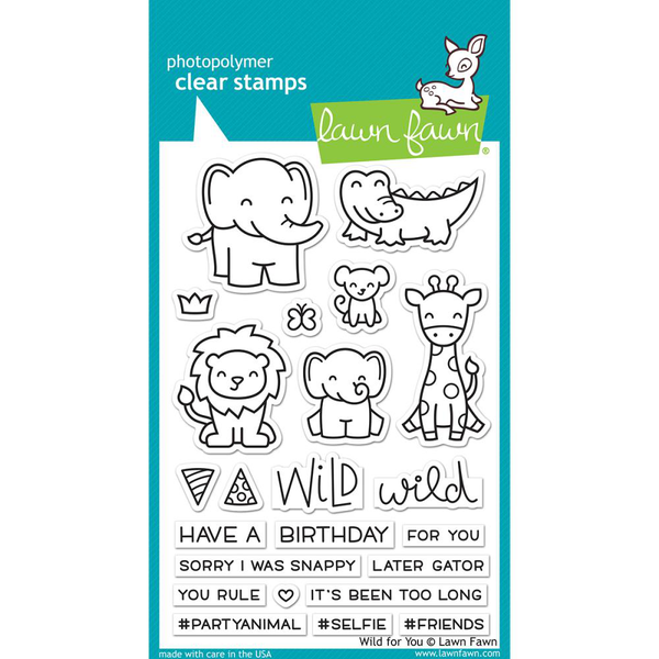 Clear stamps 4″x6″ – lawn fawn – wild for you