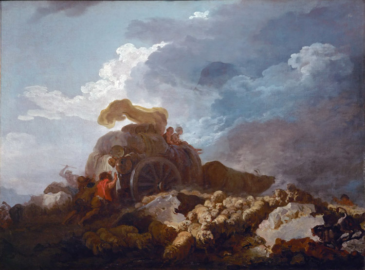The Storm,Jean Honore Fragonard,50x40cm