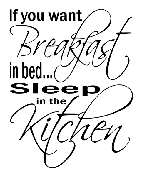 Väggord – if you want breakfast in bed..