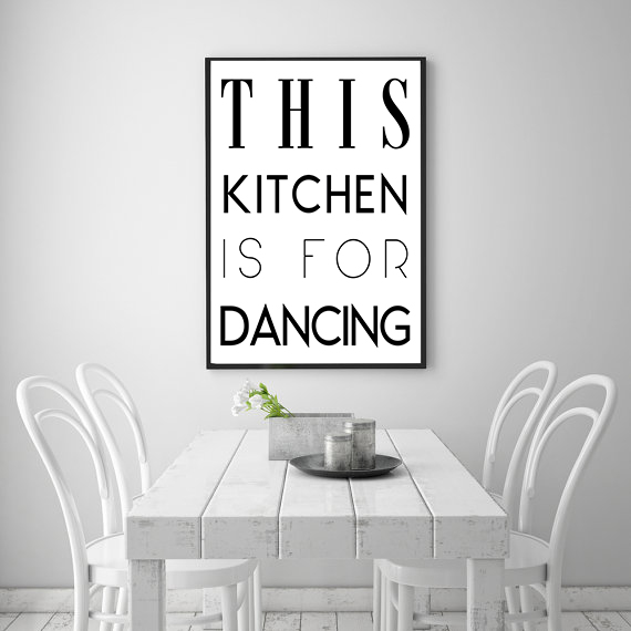 Poster - This kitchen is for dancing No.8 40x50cm 40x50cm 40x50cm b744c4