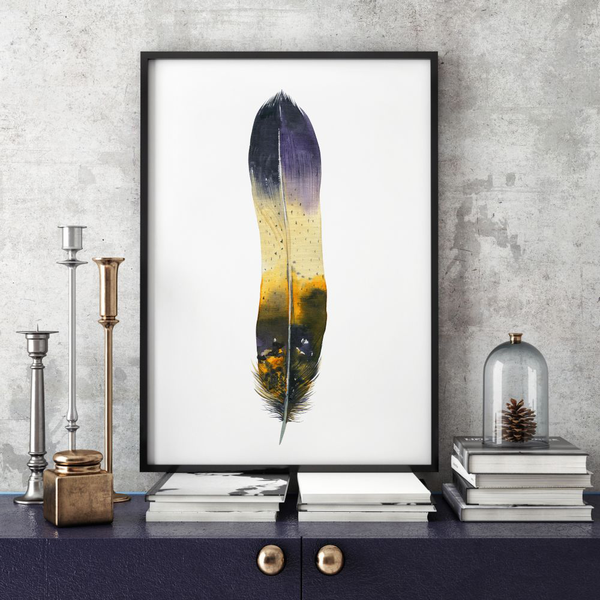 Poster Poster Poster A3 30x42cm Colorful Feather 9b1694