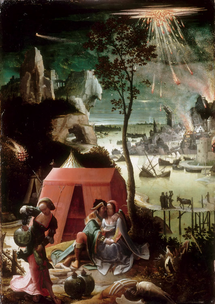 Lot Lot Lot and his Daughters,Lucas van Leyden,48x34cm 3acce1