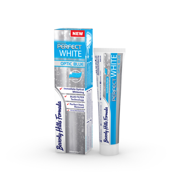 Tandkräm beverly hills formula perfect white optic blue 2-pack