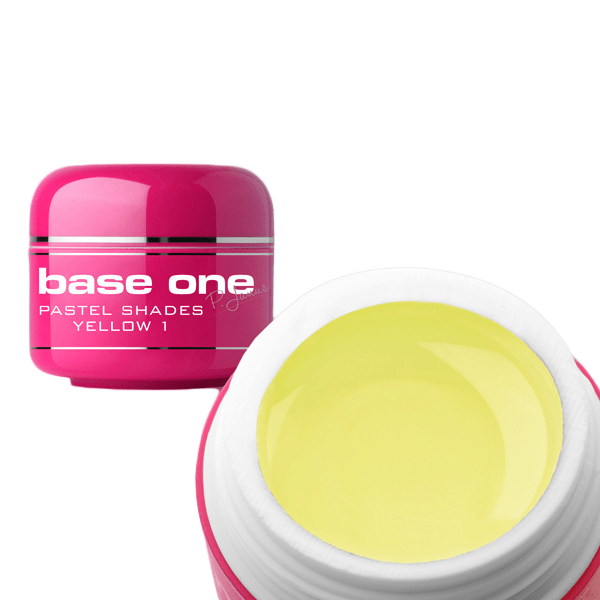 Base one – uv gel – pastel shades – yellow – 01 – 5 gram