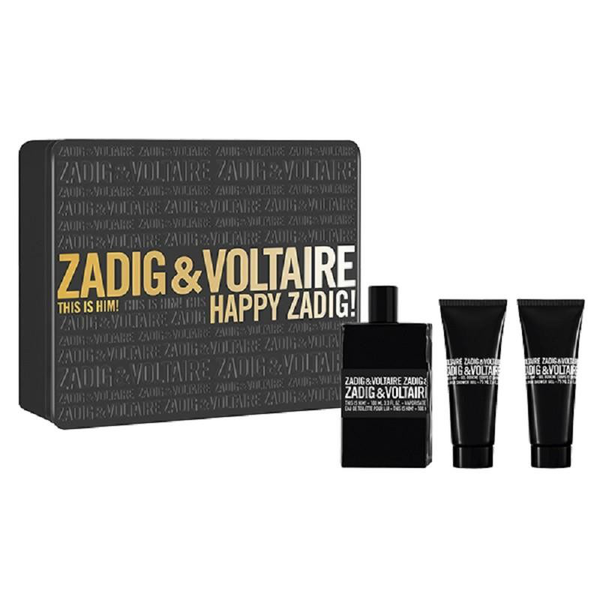 Giftset zadig & voltaire this is him edt 50ml + sg 50ml + sg 50m