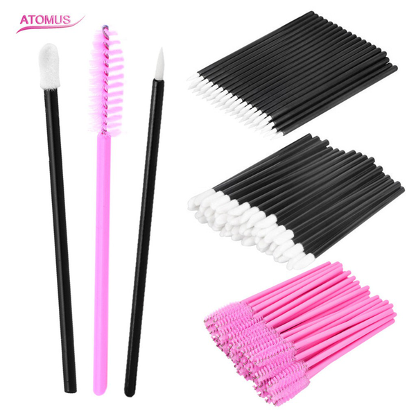 Disposable makeup tool lip brushes + liquid eyeliner brushes