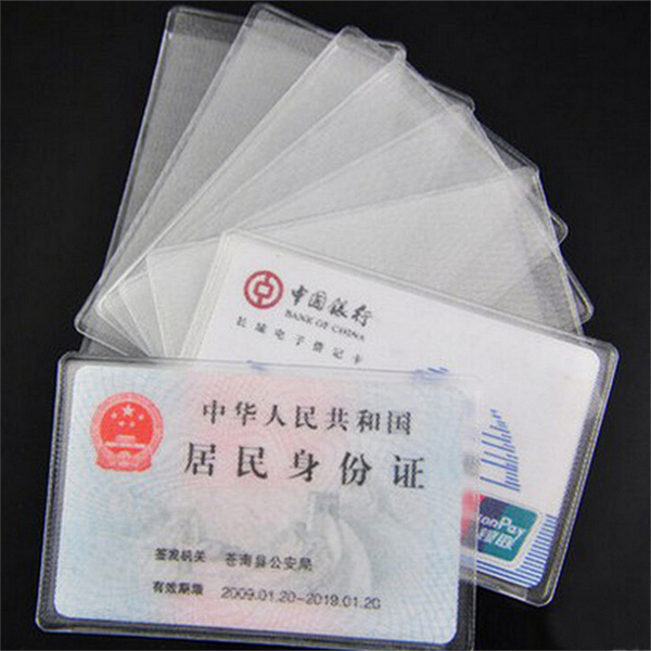 10pcs pvc credit card holder protect id card business card cover