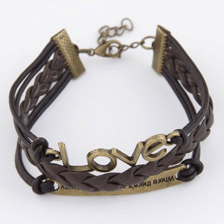 "Armband i ""läderlook"""