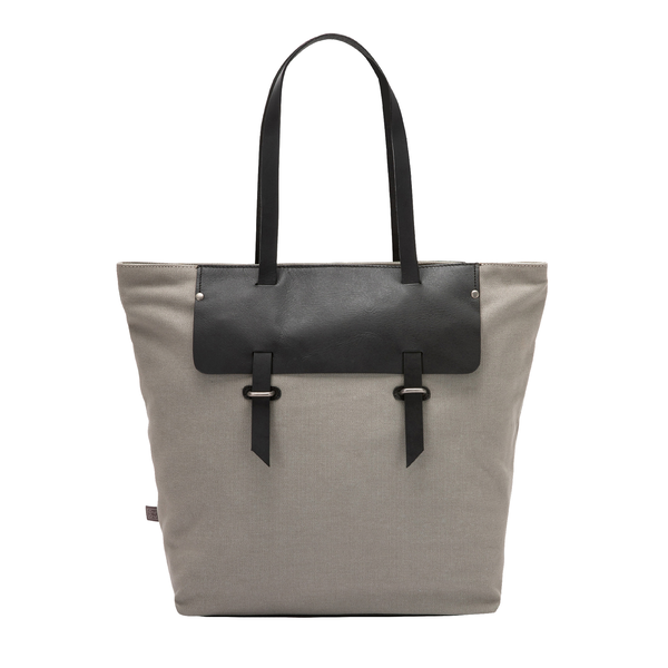 Dudu large tote shoulder bag for women in canvas and leather two