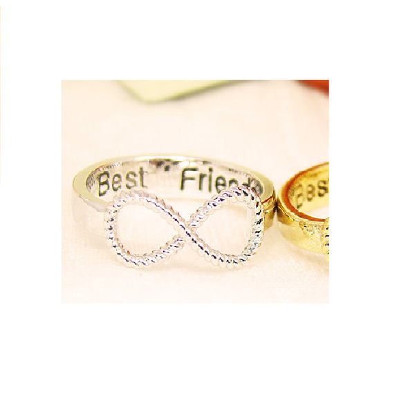 2-pack best friends infinity ring