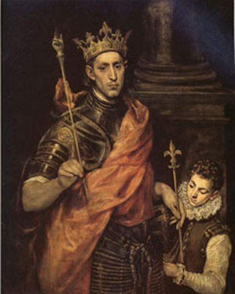 St Luis King of France with a Page,El Greco,60x50cm