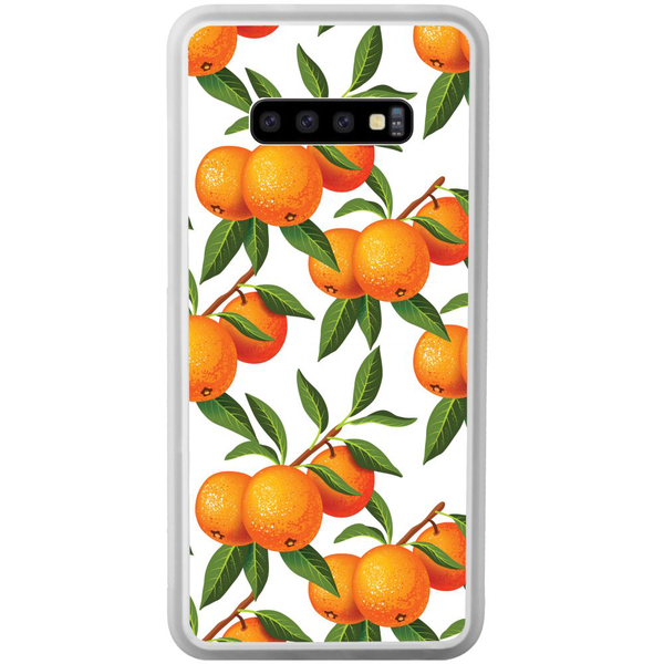 Samsung galaxy s10 transparent mobilskal tangerine tenderness