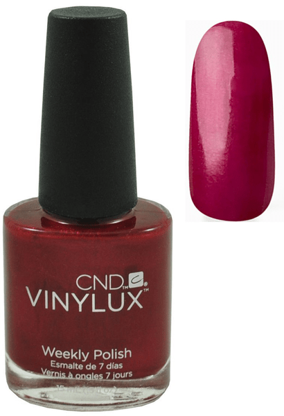 Cnd vinylux lacquer nail polish – red baroness 139