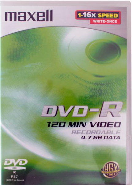 Maxell dvd-r 4,7gb 4-pack