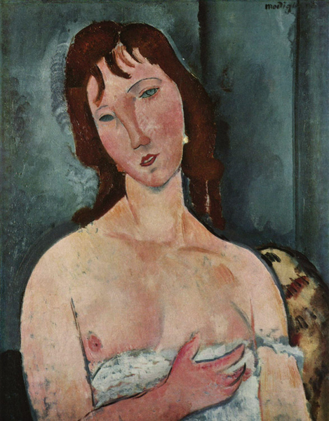Portrait of a Young Young Young Woman,Amedeo Modigliani,50x40cm 834668