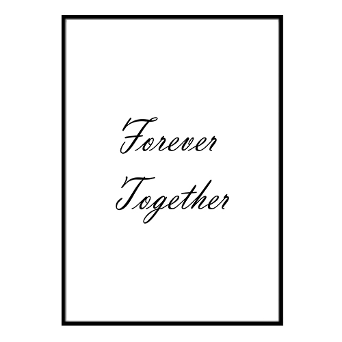 Poster - Forever Together A3 30x40cm
