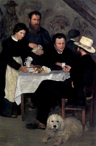 At the Inn of Mother Anthony,Pierre Renoir,60x40cm