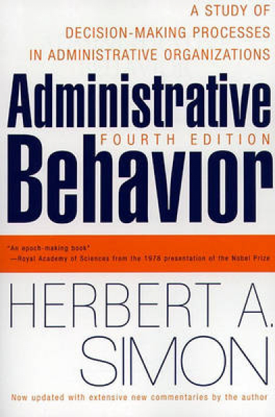 Administrative behavior 4th edition by herbert a simon