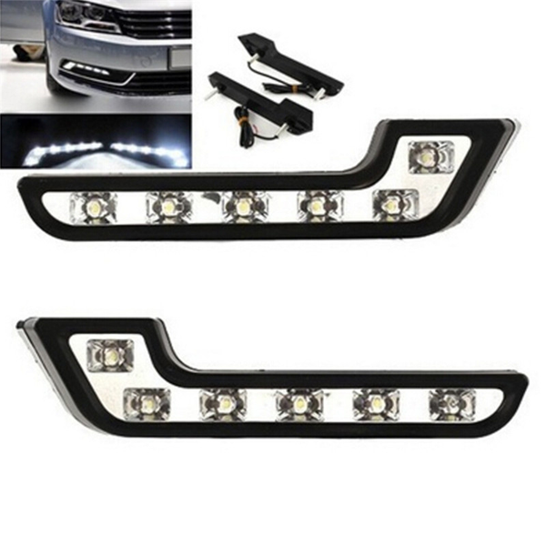 Chrome High Power  L Shape DRL LED Lights Lamps Pair For Jeep Grand Cherokee