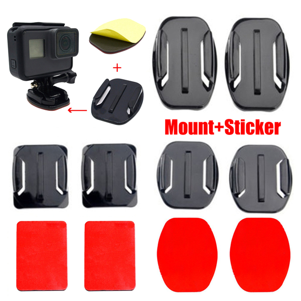 Flat curved mounts adhesive sticker pad holder for gopro hero