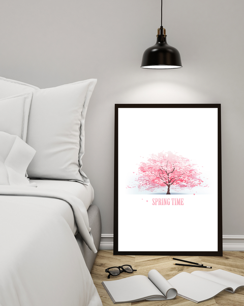 Poster - - - Cherry Tree A4 21x30cm cac141
