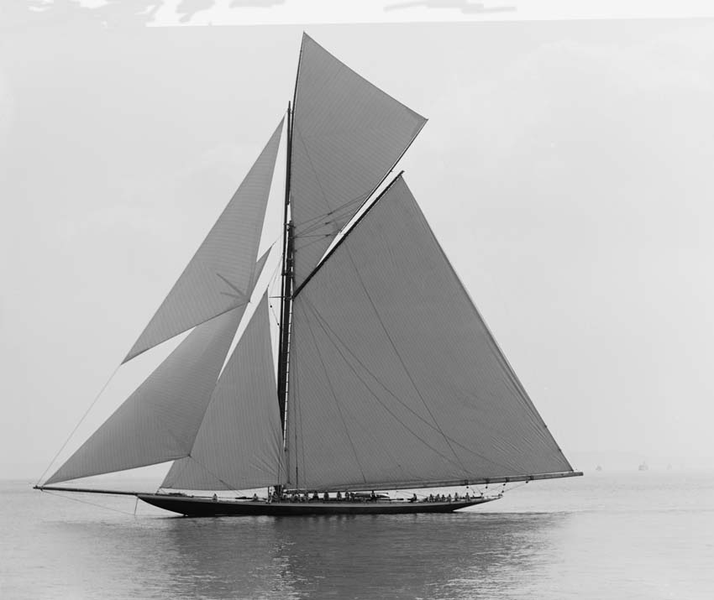 Poster yacht valkyrie 100×140 cm