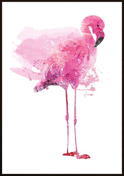 Poster - Flamingo Forest 30x40cm