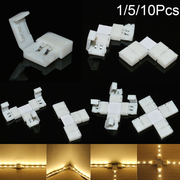 1/5/10pcs led strip connector 2pin 8mm 10mm pcb