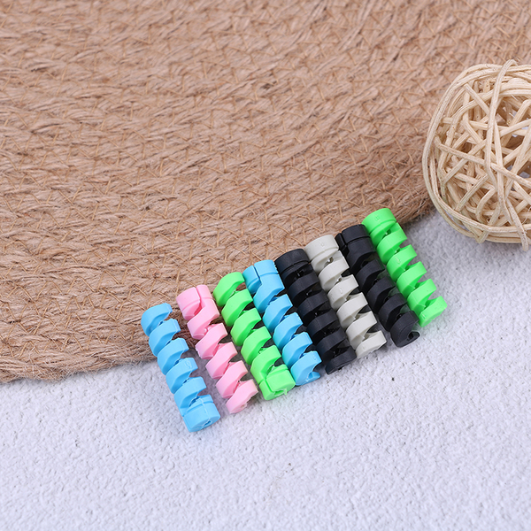 4pcs/set usb cable protector earphone cord usb line spiral prote