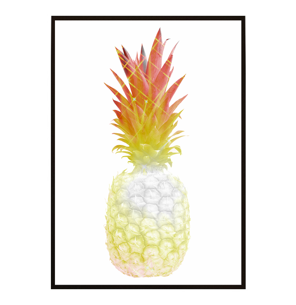 Poster - Ananas Topical Topical Topical Diamond 21x30cm 20c9f7