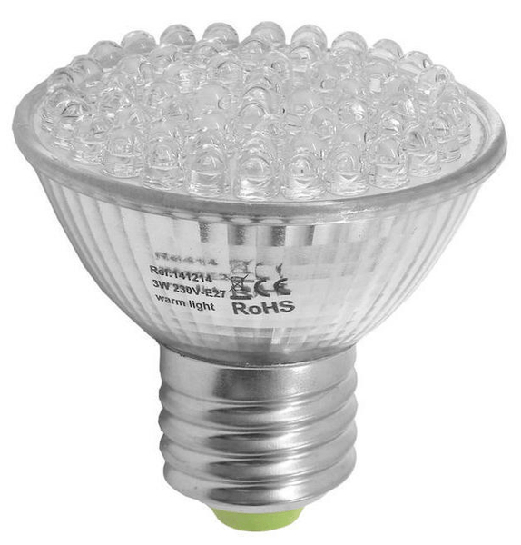 Led lampa e27 3w6-pack