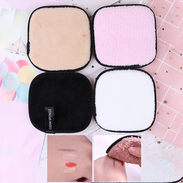 Microfiber cloth pads makeup remover puff face cleansing towel r