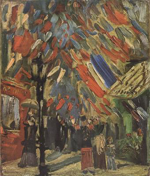 The Fourteenth of July Celebration in Paris,Vincent Van Gogh,44x