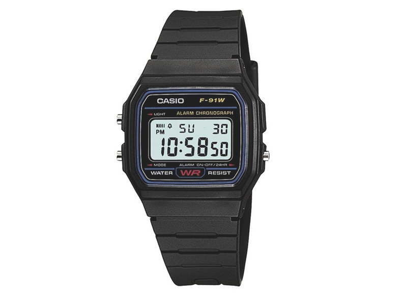 Casio f91w-1 digitalt retro armbandsur