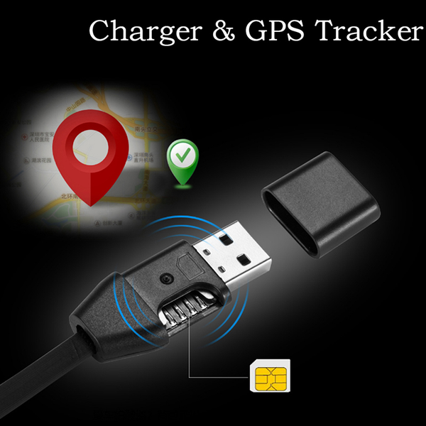 Car chargers gps tracker micro usb cable real time gsm/gprs trac