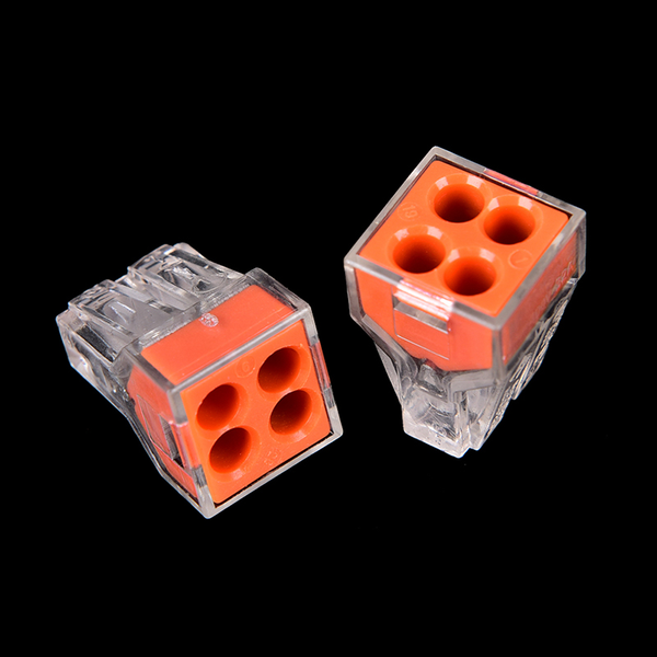 10pcs pct-104 wire connector for junction box 4 pin conductor te