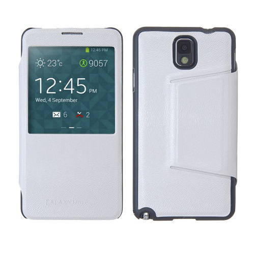 View cover fodral till samsung galaxy note 3 n9000 (vit)