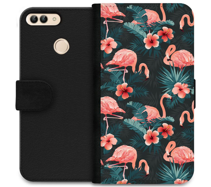 Huawei p smart (2018) plånboksfodral flamingo fever