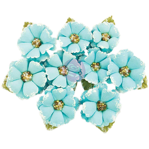 Blommor prima – flowers with beads & flocking – boreal