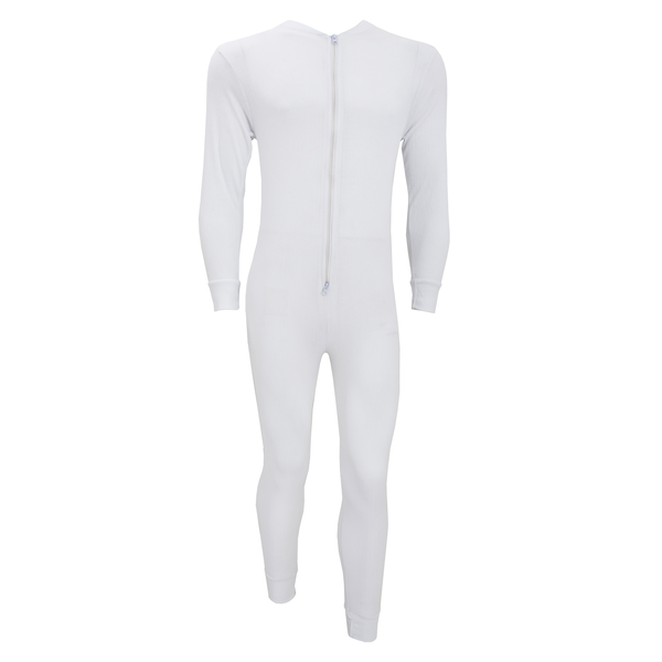 Floso mens thermal underwear all in one union suit with rear fla