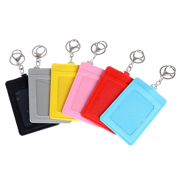 1pc business card holder wallet pu leather id card bus card hold