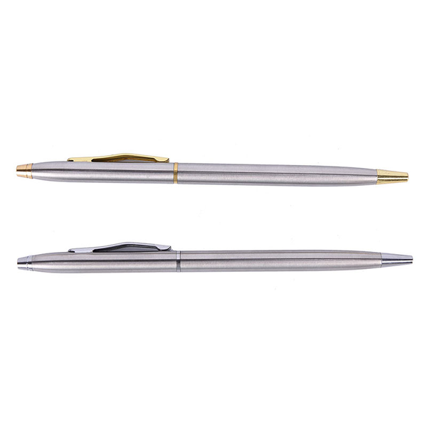 1pc metal ballpoint pen stationery stainless steel rod rotating